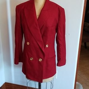 Made for Bloomingdales long red blazer S4
